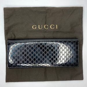 GUCCI MICROGUCCISSIMA PATENT LEATHER CLUTCH BEAUTY